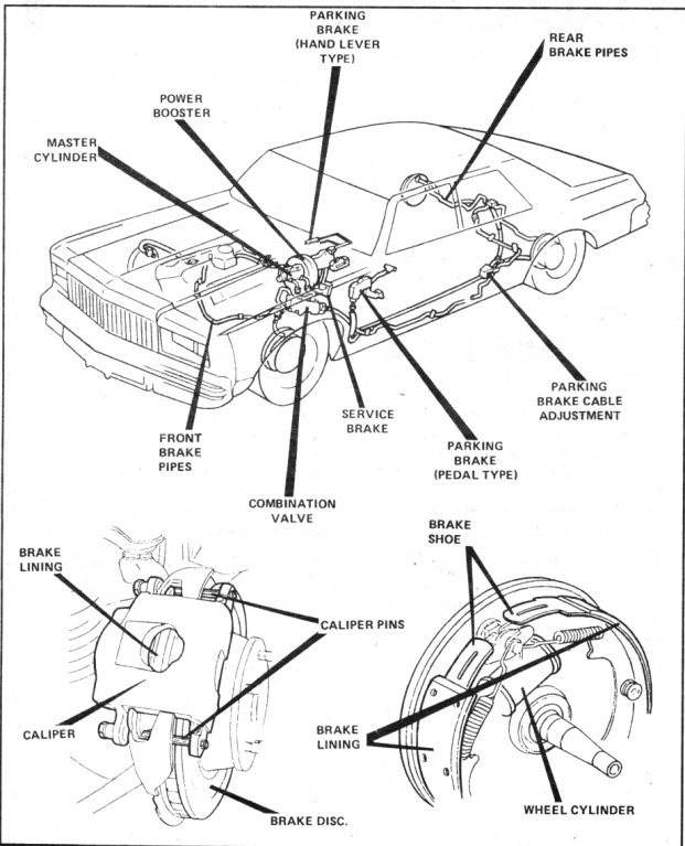 pontiac technical tips Brake Booster Vacuum Line Diagram brake 1 88496 bytes